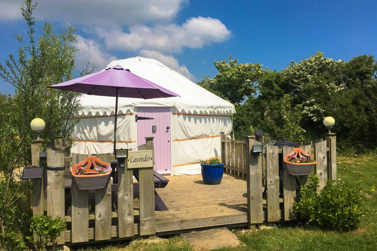 Click here for more about Lavender Yurt