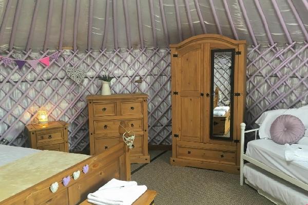 Lavender Yurt is in Perranporth, Cornwall
