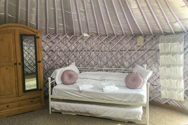 Lavender Yurt Details