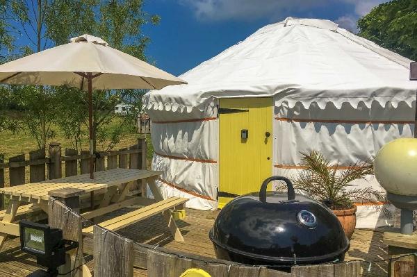 Primrose Yurt is located in Perranporth