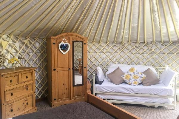 Primrose Yurt is in Perranporth, Cornwall